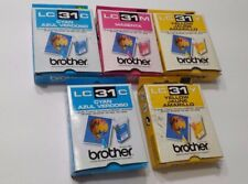 INK Cartridges Brother LC31C Cyan Yellow Magenta Set of 5 Expired Unopened New