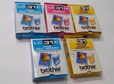 Brother LC31C Ink Cyan Yellow Magenta Set of 5 Expired Unopened New Cartridges