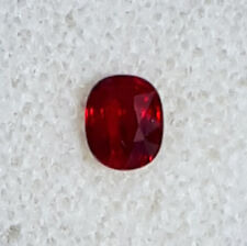 1.04 Ct 100% Natural-Unheated Pigeon Blood Red Ruby Oval Cut From Burma