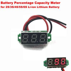 Lithium Li-ion 18650 Battery BMS Percentage Capacity Guage Level Indicator Meter