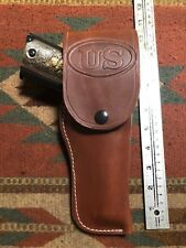 FITS: Colt 45 Govt Model 1911 Tanned Leather Flap Field Holster