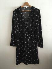 & OTHER STORIES Black Cactus Print Wrap Dress Size 14