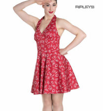 Rockabilly Pin Up Retro Nautical Rosie/'s 1950s Red Anchor Dress Size 6//8