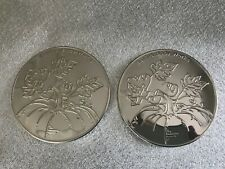 Bath And Body Works 3 Wick Candle Lids x 2 Pumpkins