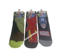 Men's Marvel Superhero Character Pack Of 3 Socks Ankle High Socks Size UK 6-11