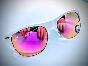 Sili Ares with Hard Case - White Polarised Sunglasses Mens Womens UV400