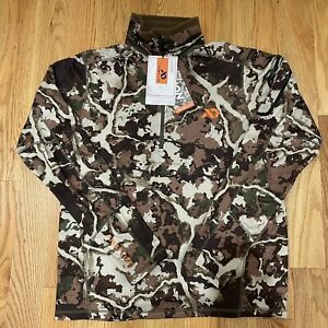 New First Lite Halstead Mens Medium Tech Fleece Hunting Sweatshirt Thermal