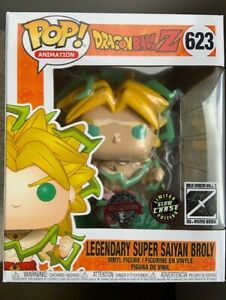 CHASE LSS Broly 6 inch Glow GITD FUNKO POP VINYL New in MINT Box + Protector