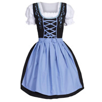 German Beer Girl Costume Dress Bar Maid for Bavarian Wench Oktoberfest party LP