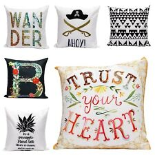 Vintage Linen Cotton Cushion Throw Pillow Covers Retro Home Decor Living Media