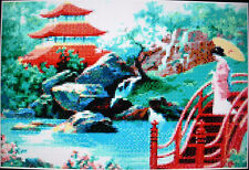JAPANESE GARDEN ~ NEW Counted Cross Stitch KIT (Larger Design) #ML181