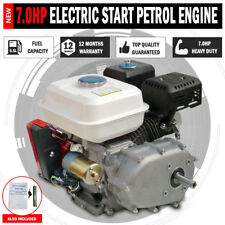 NEW 7.0HP Stationary Petrol Engine 2:1 Reduction Gearbox Electric Start