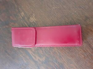 Leather pen pouch Sleave Good Quality For Posh Pens red leather magnetic