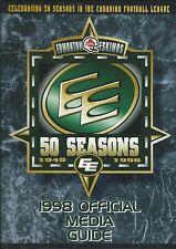 1998 Edmonton Eskimos Canadian Football League Media Guide - CFL