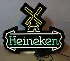 "VINTAGE ORIGINAL ""HEINEKEN"" WIND MILL DESIGN BEER SIGN"
