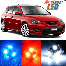 8 x Premium Xenon White LED Lights Interior Package for 2004-2009 Mazda 3 + Tool