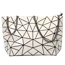 Women Geometric Shoulder Bag Handbag Purse Messenger Tote Satchel Bags - White