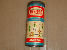 TINKERTOY - THE ORIGINAL JUNIOR ( TIN LID ) NO. 106 ( 45 WOOD & PLASTIC PARTS )