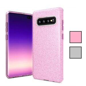 Samsung Galaxy S10 Case Bling Glitter Silicone Gel TPU Phone Cover Skin Case UK