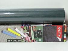 Lavagna pellicola adesiva verde scuro 200x45 wall stickers con gessetti  DC-FIX