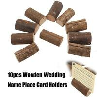 10pcs Wooden Wedding Name Place Card Holders Clip Photo Table Number Stand