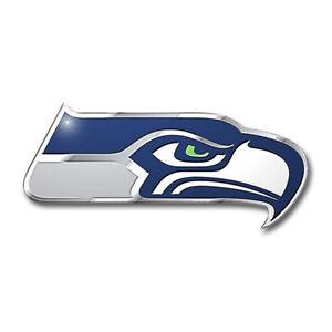 Seattle Seahawks Color Emblem Sticker Decal Aluminum Metal Car Truck Auto