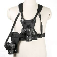 Camera Photo Waist Strap Belt Carrier Harness Holster System Soft Padded Strap