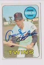 1969 Topps Autographed Baseball Card Frank Quilici Minnesota Twins