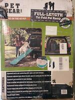 "Pet Gear Extra Wide Tri-Fold Dog/Cat Ramp with supertraX carpet 71"" Long NOB"
