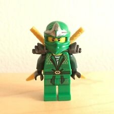 Lego Ninjago Green Lloyd ZX Minifigure 9450 Epic Dragon w/ Gold Ninja Swords