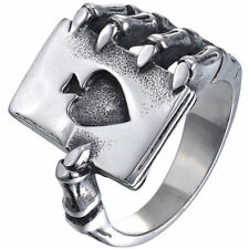 Biker Ladies MENS LRGE HEAVY ACE OF SPADES RING Stainless Steel LEMMY MOTORHEAD