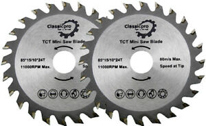 85mm x 24T TCT Mini Circular Wood Saw Blade Worx Bosch Makita Ryobi PK 2.