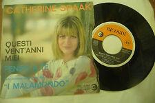 "CATHERINE SPAAK""QUESTI VENT'ANNI MEI-disco 45 giri RICORDI It 1964"" OST"