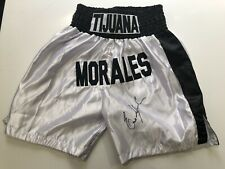 PSA DNA Erik Morales Signed Boxing Trunk / Shorts Everlast