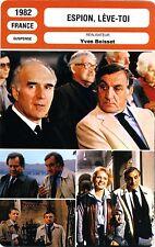Fiche Cinéma. Movie Card. Espion, lève-toi (France) Yves Boisset 1982