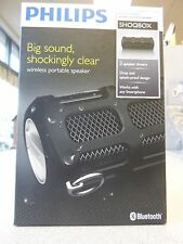 *NEW IN BOX* Philips ShoqBox SB7200/37 Bluetooth Portable Wireless Speaker-BLACK