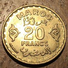 PIECE DE 20 FRANCS MAROC 1371 (367)