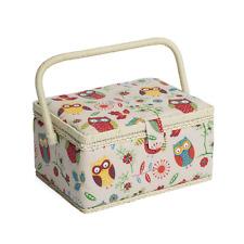 Sewing Basket - Medium Rectangle Sewing Box - Owl - MRM29