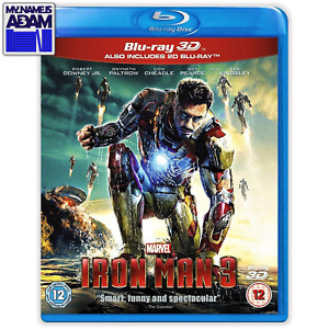 IRON MAN 3 Blu-ray 3D + 2D (REGION-FREE)