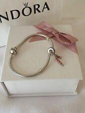 Pandora Moments Bracelet With Christmas Candy Charm Gift Box And Bag 🎁