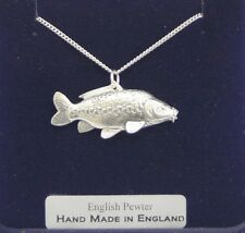 Mirror Carp Fish Necklace in Fine English Pewter, Handmade and Gift Boxed (ts)