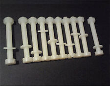 10 nylon plastica vite Set m2.5 DADO RONDELLA & Bullone 20mm