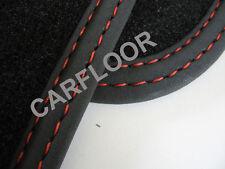 Für Seat Leon 5F ST Kombi Fußmatten Velours Deluxe schwarz m. Doppelziernaht rot
