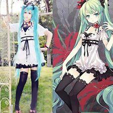 VOCALOID World Is Mine Cosplay Costume White Mix Black Full Set Dress Custom