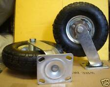 "2 x 10"" Pneumatic SWIVEL Castor Wheels"
