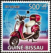 2007 Bravo EVT-168 Electric Motor Scooter Stamp (2008 Guinea-Bissau)