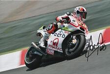 Yonny Hernandez Hand Signed Pramac Ducati 12x8 Photo 2015 MotoGP 3.