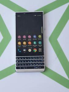 BlackberryKey2 BBF100-1 64GB Silver Unlocked  Good Condition