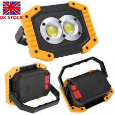 USB Rechargeable LED COB Work Light Spotlights Camping Outdoor Emergency Lamp
