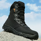 Mens Black  Camouflage Army Tactical Comfort Desert Rubber Combat Military Boot